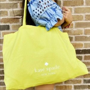 Kate Spade Yellow Canvas X-Large Tote Bag